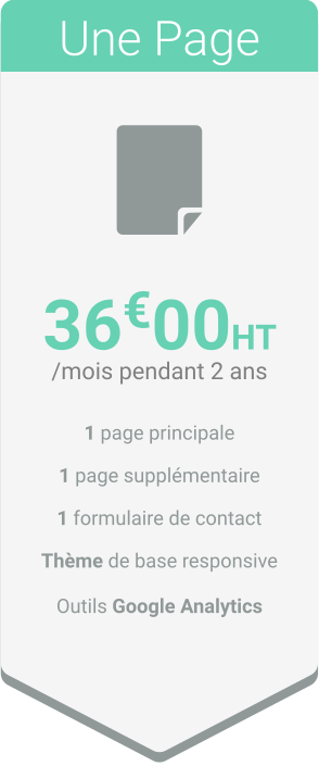 Une Page V2 - Nos tarifs